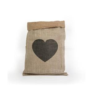 Yute Heart tároló kosár újrahasznosított papírból - Surdic