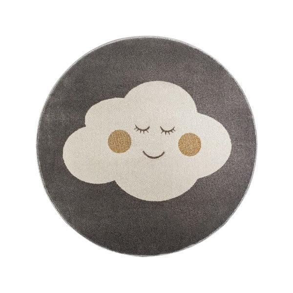 Cloud szürke, kerek szőnyeg felhő mintával, ø 100 cm - KICOTI