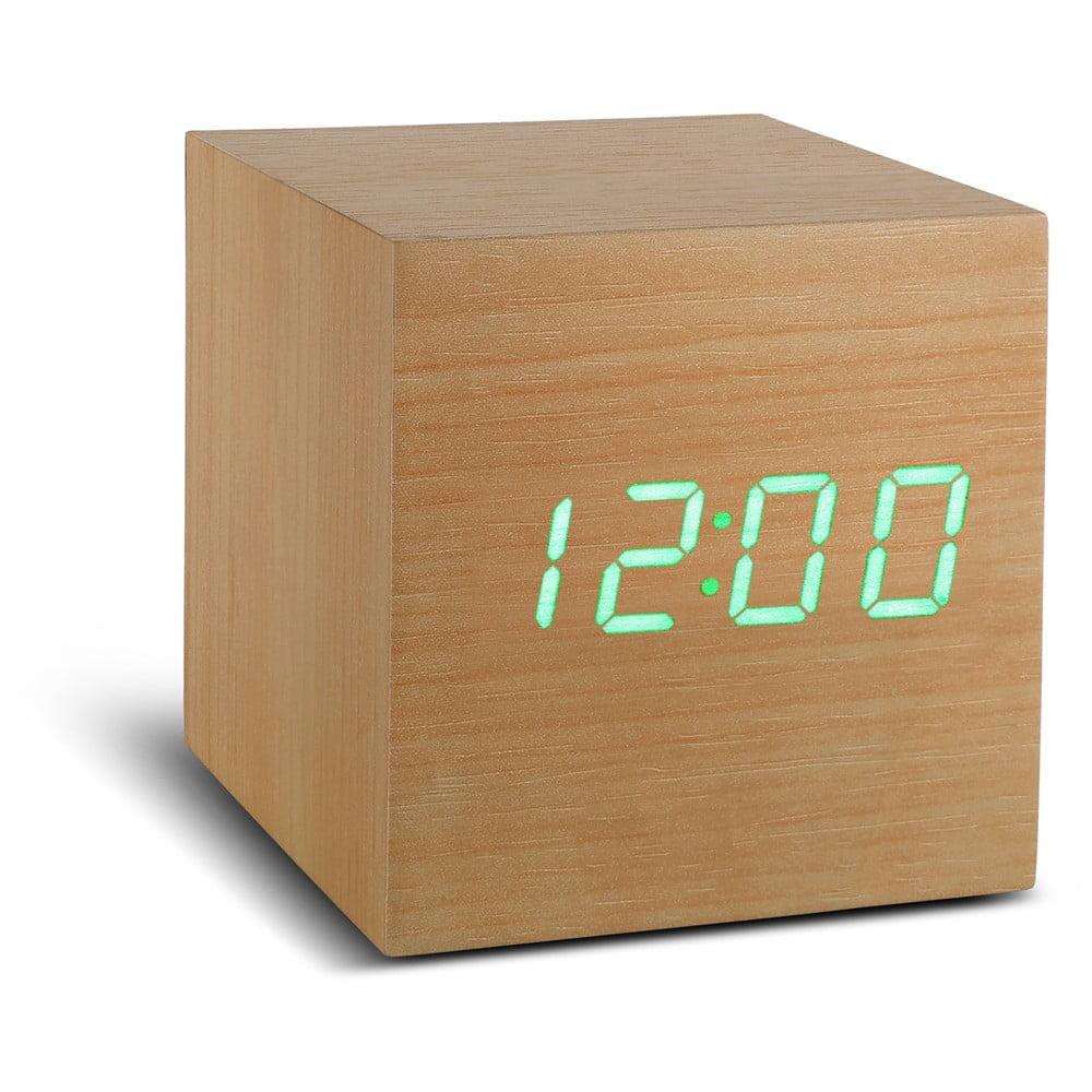Cube Click Clock világosbarna ébresztőóra zöld LED kijelzővel - Gingko 7586e4a18e