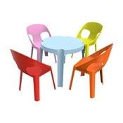 Julieta gyerek kerti garnitúra, 1 kék asztal és 4 szék - Resol