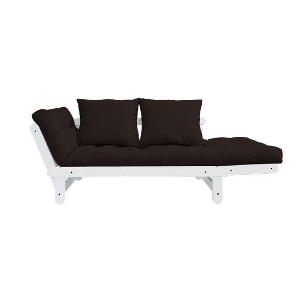 Beat White/Brown kinyitható kanapé - Karup Design
