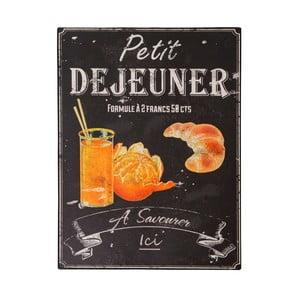 Petit Déjeuner bádog tábla, 25 x 33 cm - Antic Line