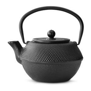 Jang fekete öntöttvas teáskanna szűrővel szálas teához, 1,2 l - Bredemeijer