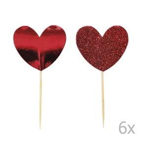 Hearts 12 db-os tortadísz szett - Miss Étoile