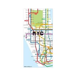 New York térkép mintájú mágnes - Kikkerland