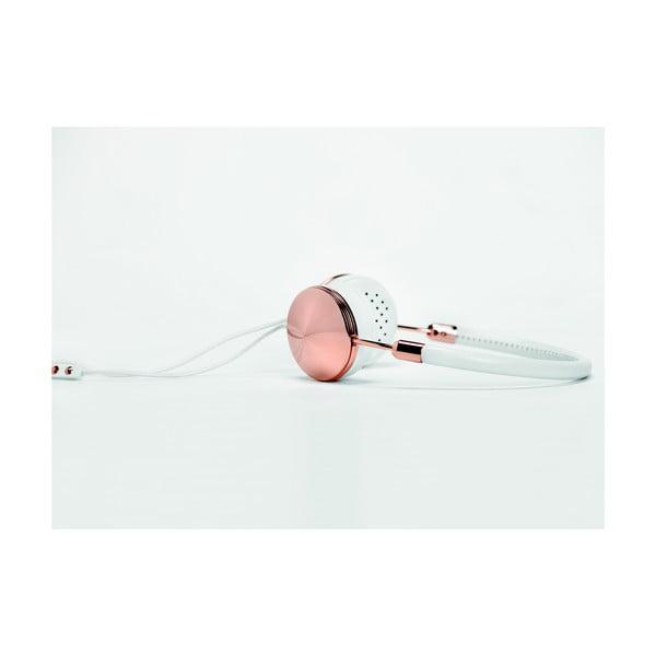 Layla fehér fejhallgató roséarany színű elemekkel - Frends