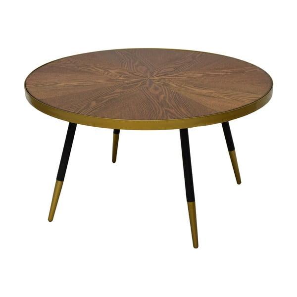 Facett diófa mintás dohányzóasztal, magasság 45 cm - RGE