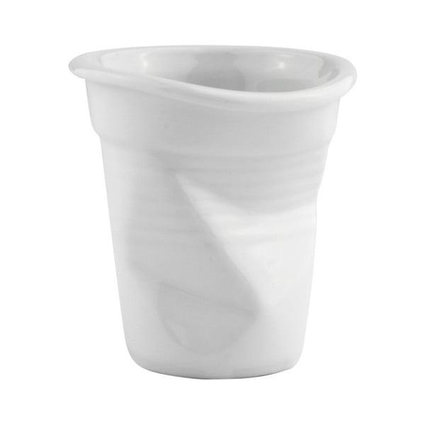 Fehér gyűrött porcelán bögre, 100 ml - KJ Collection
