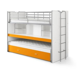Bonny narancssárga emeletes ágy polcokkal, 220 x 100 cm - Vipack