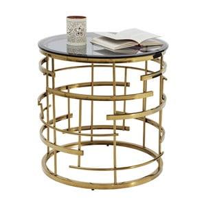 Jupiter aranyszínű tárolóasztal, ⌀ 55 cm - Kare Design