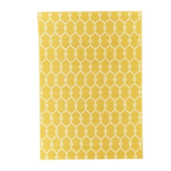 Trellis sárga fokozottan ellenálló szőnyeg, 160 x 230cm - Floorita