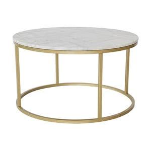 Accent márvány tárolóasztal bronzszínű vázzal, Ø 85 cm - RGE