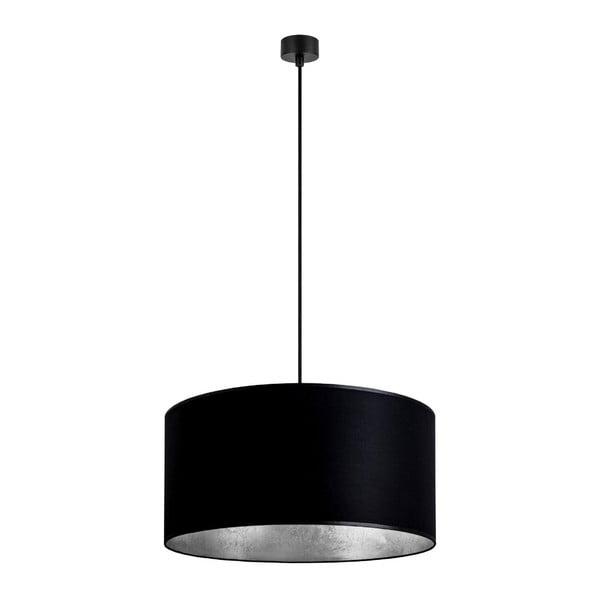Mika fekete függőlámpa ezüstszínű részletekkel, ∅ 50 cm - Sotto Luce