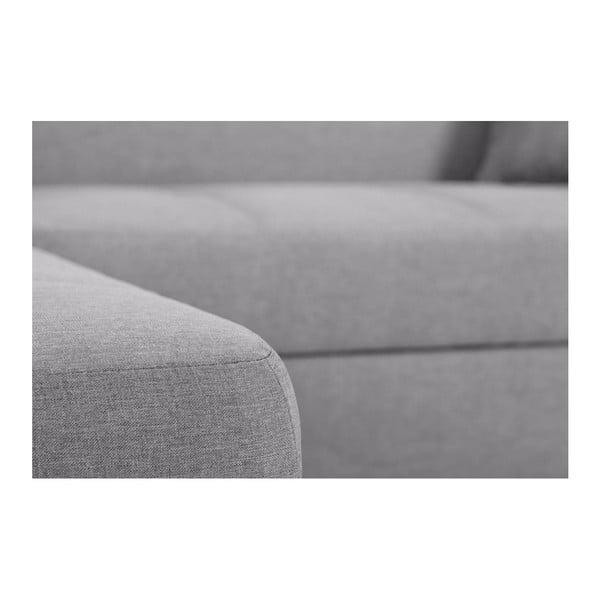 Bijou világos szürke kanapé, bal oldal - Interieur De Famille Paris