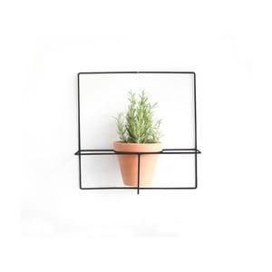 Square fekete fali virágcseréptartó - Surdic