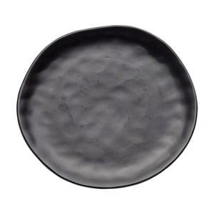 Swirl fekete agyagkerámia tányér, ⌀ 26 cm - Kare Design