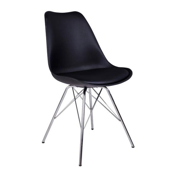 Oslo Crome 2 darabos fekete székkészlet - House Nordic