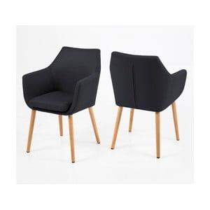 Nora antracitszürke fotel - Actona