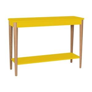 Žlutý konzolový stolek Ragaba Ashme, šířka105cm