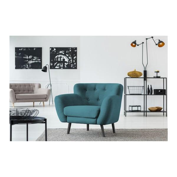 Hampstead türkiz fotel - Cosmopolitan design