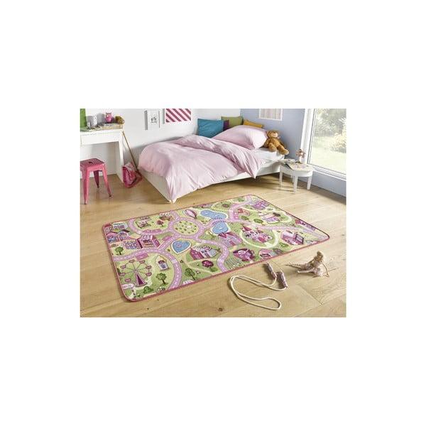 City gyerekszőnyeg rózsaszín részletekkel, 160 x 240 cm - Hanse Home