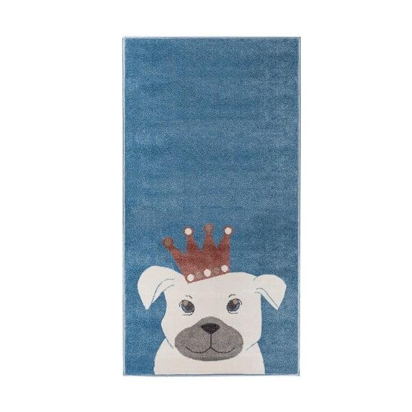 Blue Dog kutya mintás sötétkék szőnyeg, 200 x 280 cm - KICOTI