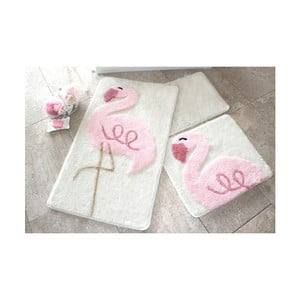 Alessia Pink Flamingo fürdőszobai kilépő, 3 db