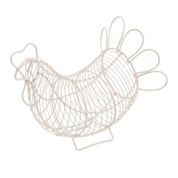Chicken fehér tojástartó kosár - T&G Woodware