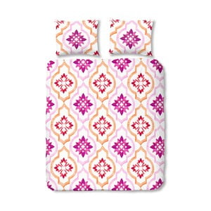 Tiled rózsaszín pamut ágyneműhuzat-garnitúra egyszemélyes ágyhoz, 140 x 200 cm - Good Morning