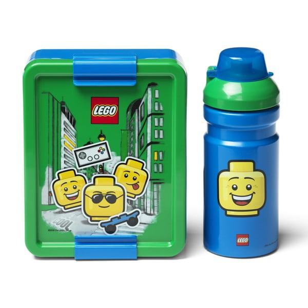 Iconic zöld-kék uzsonnásdoboz és kulacs - LEGO®