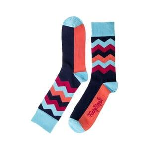 Wave kék-piros zokni, mérete 39 – 45 - Funky Steps