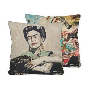 Frida Collage kétoldalas párnahuzat, 45x45 cm - Madre Selva