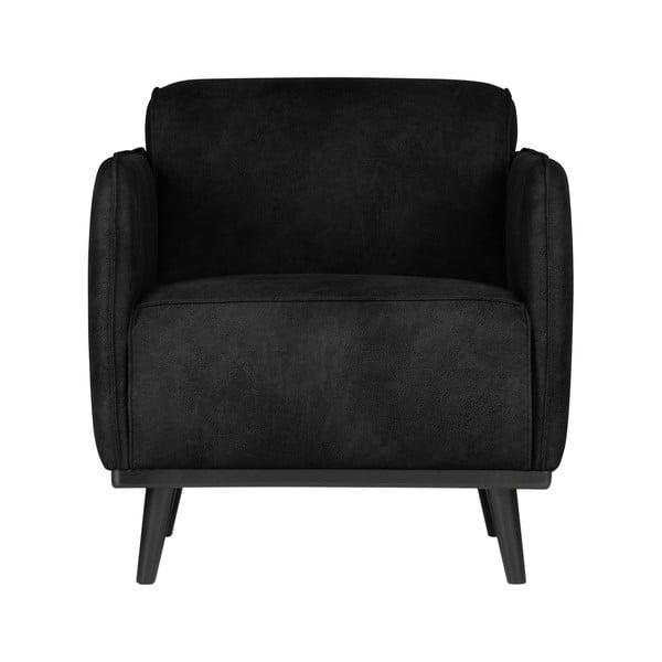 Velvet fekete fotel - BePureHome