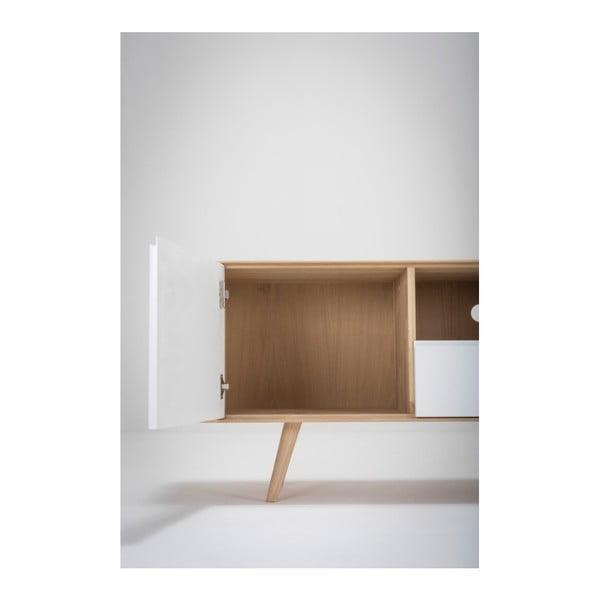 Ena Two tölgyfa TV-állvány, 160 x 42 x 60 cm - Gazzda