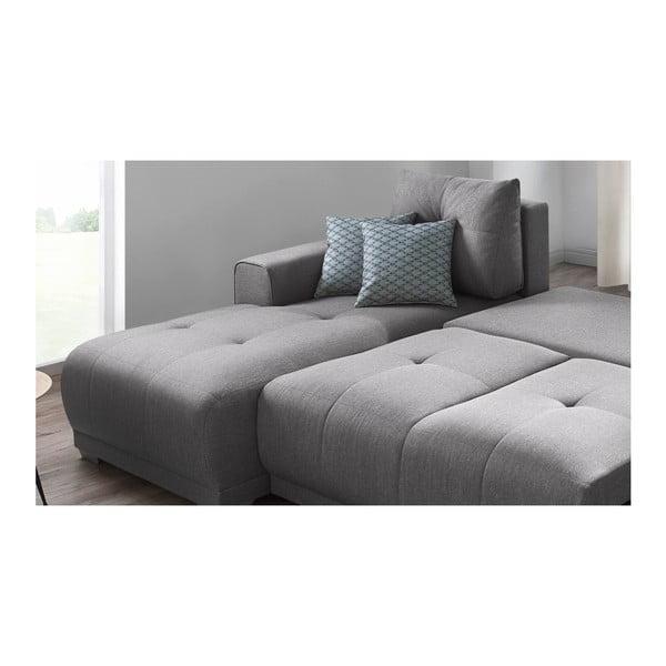 Lisbona szürke kinyitható kanapé tárolóhellyel, bal oldali kivitel - Bobochic Paris