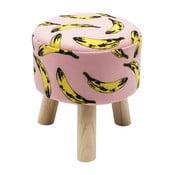 Banana mintás ülőke, ø 32 cm - Kare Design