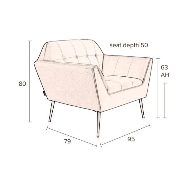 Katarina Divina rózsaszín fotel - Dutchbone