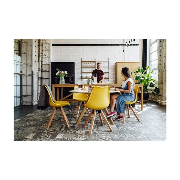 Eco szürke szék, bükkfa lábakkal - loomi.design