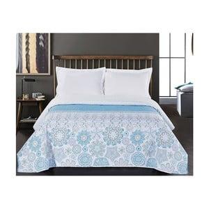 Alhambra kétoldalas kék-fehér mikroszálas ágytakaró, 220 x 240 cm - DecoKing