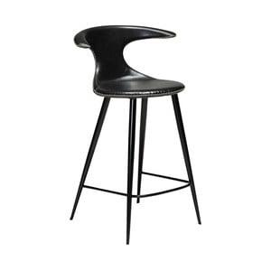 Černá barová židle z eko kůže DAN–FORM Denmark Flair