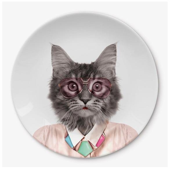 Cat kerámia tányér - Just Mustard
