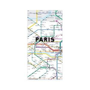 Paris térkép mintájú mágnes - Kikkerland