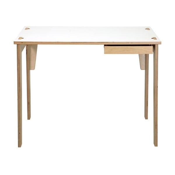 Sandra fiókos íróasztal, fehér asztallappal - We47
