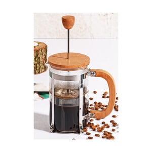 Bisous french press dugattyús kávéfőző bambusz fedéllel, 600 ml