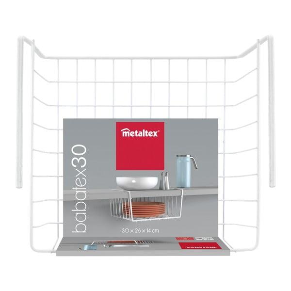 Polcra akasztható tárolókosár, szélesség 30 cm - Metaltex