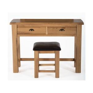 Breeze tölgyfa fésülködőasztal és szék - VIDA Living