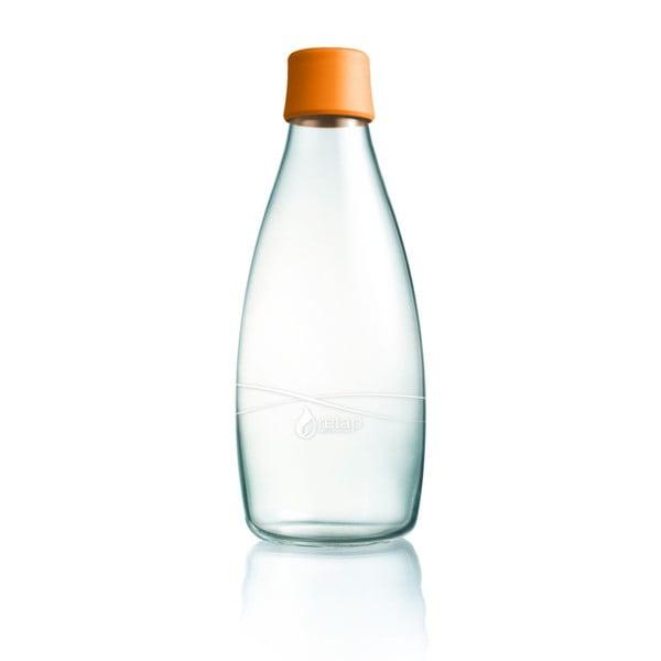Narancssárga üvegpalack élettartam garanciával, 800ml - ReTap
