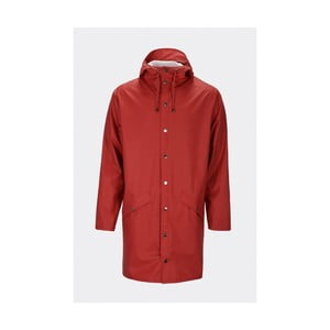 Tmavě červená unisex bunda s vysokou voděodolností Rains Long Jacket, velikost XS/S