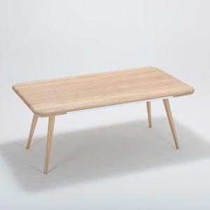 Ena étkezőasztal tömör tölgyfa szerkezettel és fiókkal, 180 x 100 cm - Gazzda