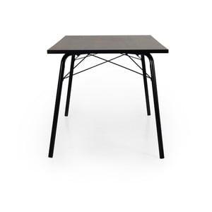 Daxx sötétbarna étkezőasztal, 80x140cm - Tenzo